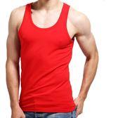 本命年紅色男士背心莫代爾跨欄夏季打底汗衫薄款修身緊身運動背心 免運直出 聖誕交換禮物