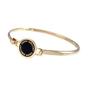 MARC JACOBS 黑色圓盤LOGO硬式手環-M0008542-062