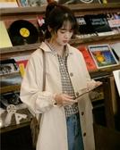 工裝風衣外套女秋新款韓版寬鬆日系復古中長款
