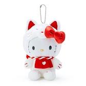 小禮堂 Hello Kitty 夜光絨毛吊飾 (百妖夜行) 4550337-84385