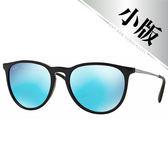 台灣原廠公司貨-【Ray-Ban雷朋太陽眼鏡】4171F-601/55 亞洲加高鼻墊款墨鏡(水銀藍鏡面/黑框)