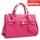 手提包斜背包 A850 優雅絲巾手提包側背包 6色 寶來小舖 Bolai shop 現貨販售