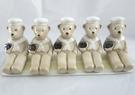 【震撼精品百貨】日本泰迪熊 ~ 陶瓷擺飾5入『坐』