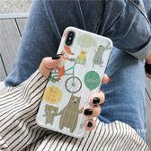 ~SZ13 ~曲面行李箱卡通小動物軟殼iphone XS MAX 手機殼iphone XR XS 手機殼iphone 8plus 手機殼iphone 6s pl