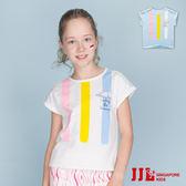 JJLKIDS 女童 繽紛俏皮條紋配色棉質上衣(2色)