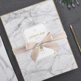雙12狂歡購 結婚簽到本大理石婚禮創意簽到冊聚會歐式簽到簿生日禮金冊