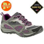 丹大戶外【MERRELL】美國 女款 AZURA GORE-TEX® 登山健行多功能鞋 ML24338 深灰/紫