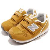 New Balance 慢跑鞋 996 NB 黃 白 麂皮 魔鬼氈 休閒鞋 童鞋 小童鞋【PUMP306】 FS996BYIW