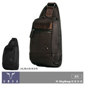 VOVA 沃汎 單肩包 懷念棕 羅馬系列 高質感布配皮胸包 VA115S07BR MyBag得意時袋