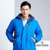 【Emilio Valentino】戶外休閒機能保暖防風防潑水外套 - 藍