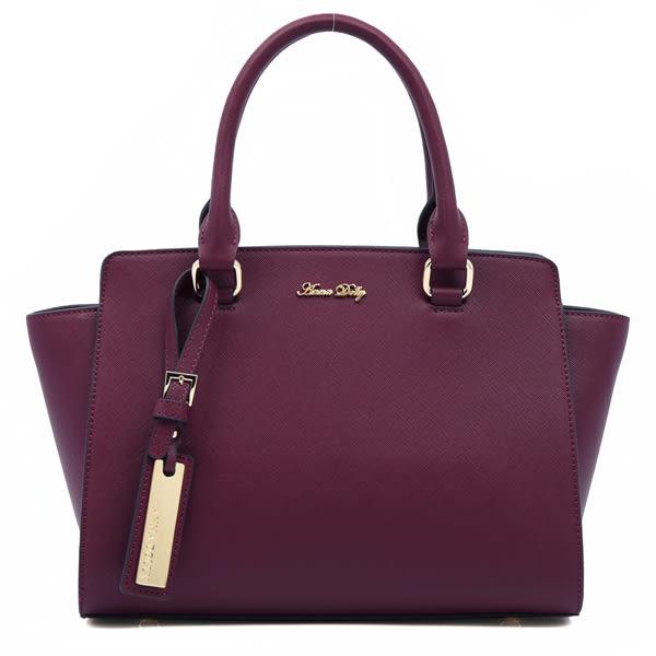 ANNA DOLLY   法氛甜樣Trendy吊牌莫莉包(藏紅紫)