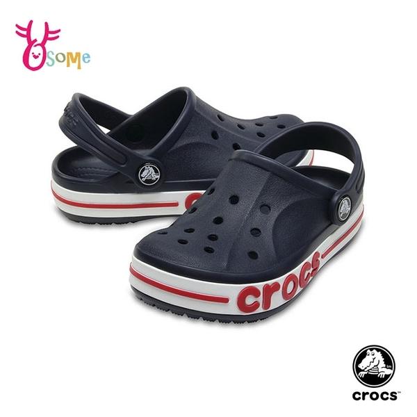 Crocs卡駱馳童鞋 男女童洞洞鞋 經典款 園丁鞋 防水布希鞋 涼拖鞋 中大童 A1768#藍色◆奧森