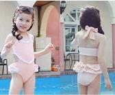 兒童泳衣女孩連體蕾絲夏裝童泳裝 sxx2484 【大尺碼女王】