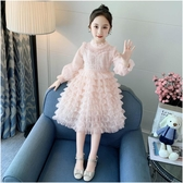 女童洋裝 女童公主裙春裝2020新款洋氣女孩長袖紗裙蛋糕裙子春秋兒童連身裙 零度3C