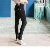 《BA0284》黑色嚴選修身窄管牛仔褲 OrangeBear