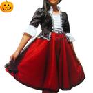 兒童萬聖節服裝 公主吸血鬼女伯爵洋裝 現貨