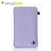 時尚簡約★iPhone 4 超細纖維保護套- 浪漫紫~ Simplism ☆特價免運費☆