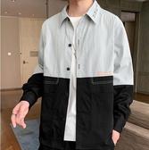 男士外套 襯衫男士2020秋季新款韓版潮流帥氣長袖襯衣休閒男裝秋裝上衣外套