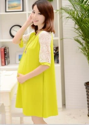 新款時尚簡潔孕婦裝 連衣裙 洋裝4