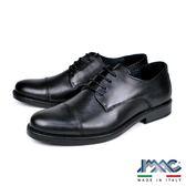 【IMAC】義大利橫飾輕量抗震德比紳士氣墊鞋  黑色(100270-BL)