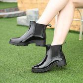 雨防水時尚雨鞋女套鞋雨靴水鞋短筒膠鞋 台北日光