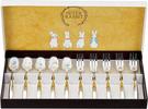 Asahi【日本代購】朝日 彼得兔七寶勺子、叉子 鍍銀餐具 日本製 Pr 0152