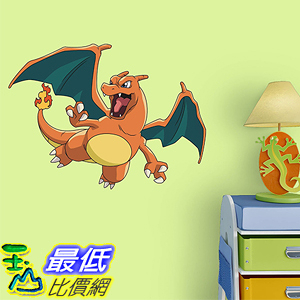 [美國直購] 神奇寶貝 精靈寶可夢周邊 Fathead 15-17170 Peel and Stick Decals Pokemon Charizard Junior Wall Decal