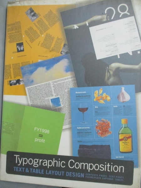 【書寶二手書T6/設計_EIY】Typographic Composition: Text & Table Layout Design_Not Available