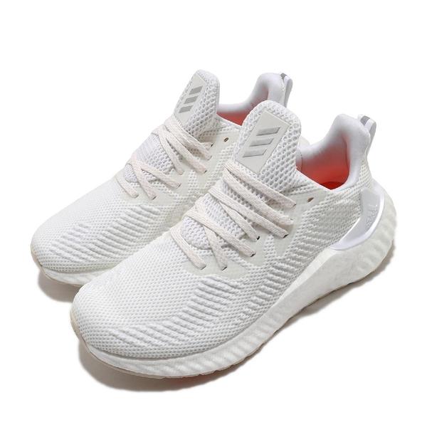 adidas 慢跑鞋 AlphaBOOST W 白 銀 男鞋 女鞋 Boost 中底 緩震舒適 運動鞋 【ACS】 EF1182