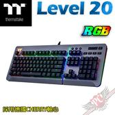 [ PC PARTY  ] 曜越 thermaltake Level 20 RGB 電競鍵盤 ( 鈦灰色)