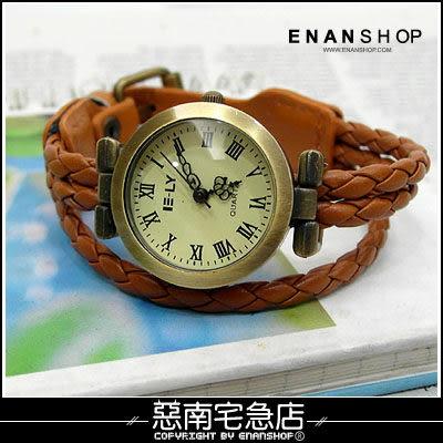 惡南宅急店【0372F】第一次邂逅‧韓 特價男錶女錶情侶對錶可『3線編織』手錶‧單價
