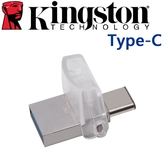 [富廉網]【金士頓】DataTraveler MicroDuo 3C 64G Type-C USB3.1 隨身碟 (DTDUO3C)