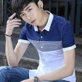 夏季韓版修身青年新款拼接款短袖襯衫