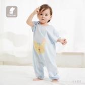 背心式兒童睡袋 夏季薄款棉質小孩分腿寶寶睡袋兒童防踢被 BT5773『男神港灣』