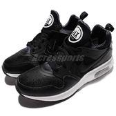 Nike 休閒慢跑鞋 Air Max Prime 黑 白 皮革 氣墊 黑白 運動鞋 男鞋【PUMP306】 876068-001