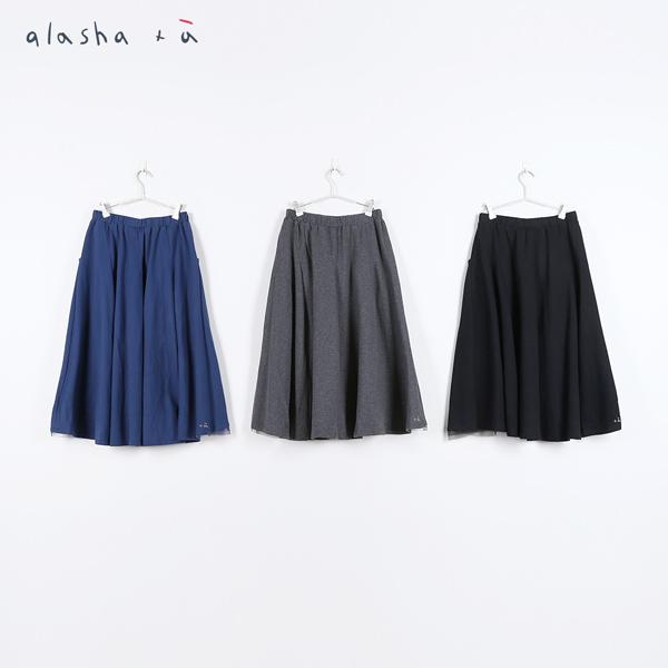 a la sha +a  氣質打摺拼接紗裙