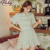 套裝 中國風亮蔥點點套裝 上衣+褲裙-Ruby s 露比午茶