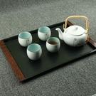 茶盤 茶盤塑料托盤茶盤長方形家用歐式日式防滑盤子仿木紋酒店托盤咖啡杯盤