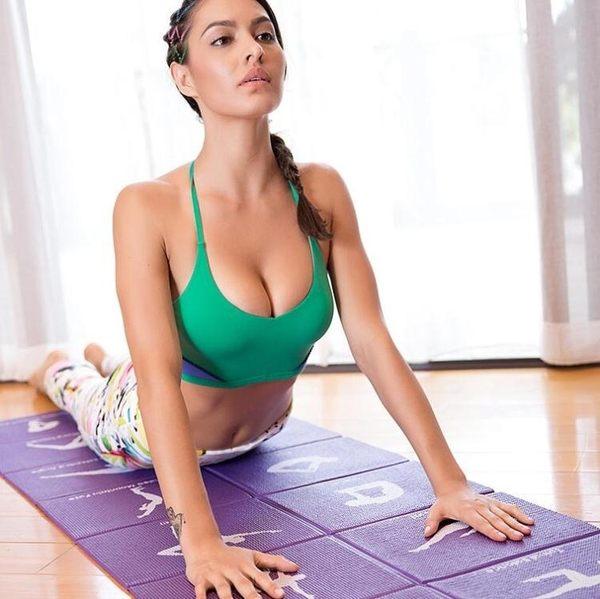 瑜伽墊 初學者防滑健身墊可折疊加寬加長男女無味便攜瑜珈墊jy【快速出貨超夯八折】