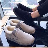 冬季保暖加絨東北雪地靴男一腳蹬加厚面包鞋低幫套腳防滑棉鞋子男 童趣屋