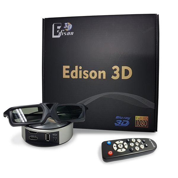 Edison  3D 轉換器 + 3D 眼鏡x2  送  水動能光觸媒過濾淨水壺