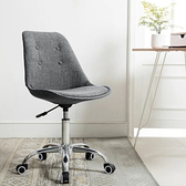 E-home Pamela帕梅拉可調式拉扣電腦椅 二色可選灰色