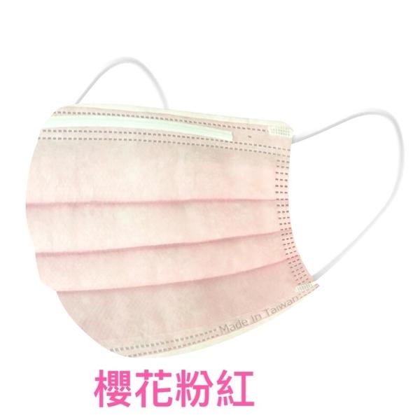 丰荷 成人醫療 醫用口罩 (50入/盒) (櫻花粉紅 ) 口罩收納夾 【XX01】
