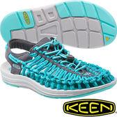 KEEN 1014639土耳其藍/深紫 Uneek 女專業戶外護趾編織涼鞋/水陸兩用繩編鞋