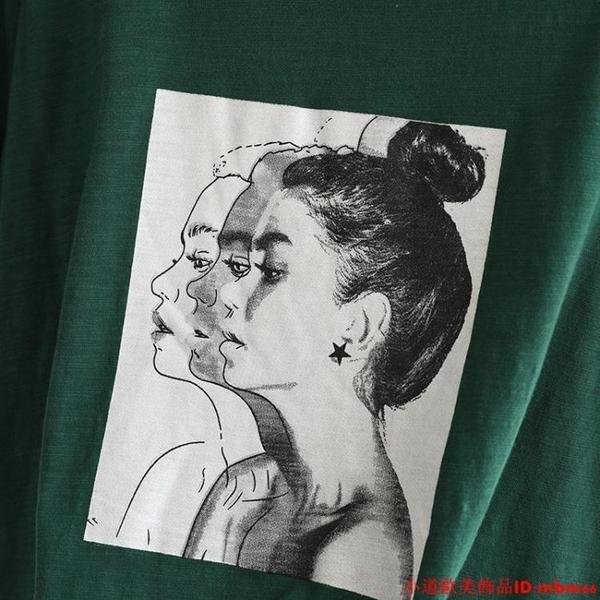 短袖t恤女寬松ins潮夏裝新款韓版百搭半袖上衣服純棉體恤白色