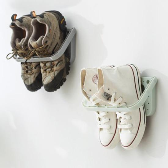 壁掛式黏貼鞋架 創意 家用 可折疊 掛式鞋架 浴室 掛牆 鞋子 拖鞋收納架 居家 【J087】MY COLOR