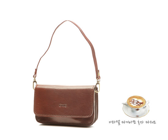 OMC - 真皮魅力款復古可腰掛手提包