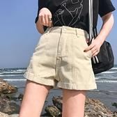 超短褲 夏季女裝韓版寬松卷邊復古闊腿短褲顯瘦熱褲百搭高腰牛仔褲休閑褲 夢藝家