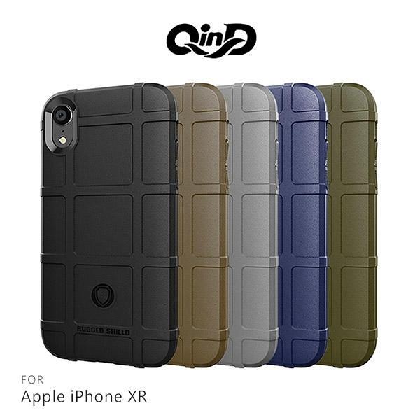 【愛瘋潮】QinD Apple iPhoneXR 戰術護盾保護套 邊緣全包 減震抗摔