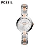 FOSSIL Kerrigan 優雅雙色鎖鍊錶 32MM 女 BQ3341
